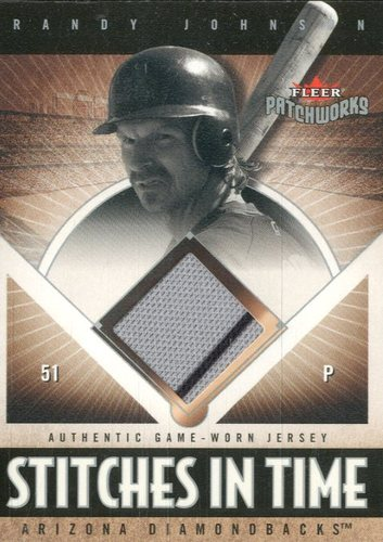 Photo of 2004 Fleer Patchworks Stitches in Time Jersey #RJ Randy Johnson