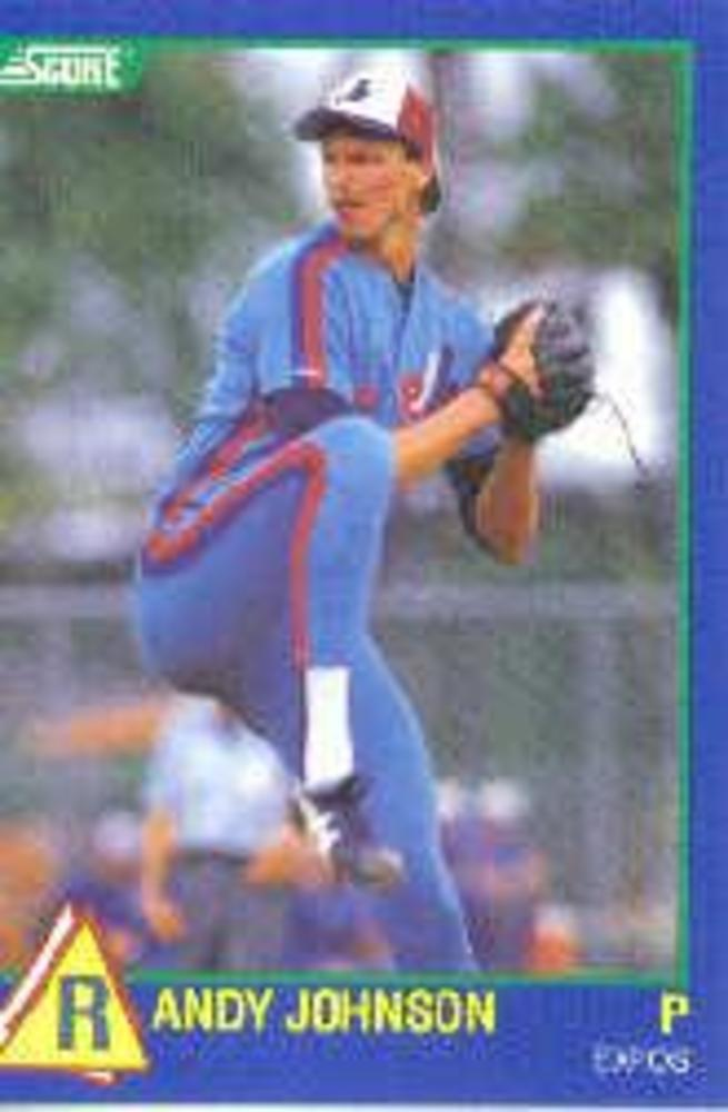 1989 Score Hottest 100 Rookies #63 Randy Johnson -- Hall of Famer