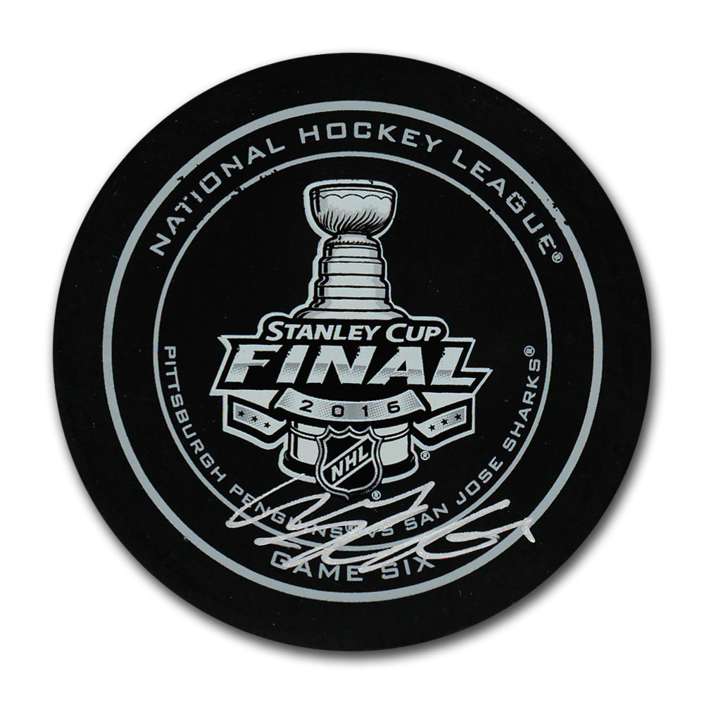 Carl Hagelin Autographed 2016 Stanley Cup Final Official Game Six Puck