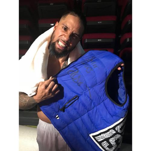 Photo of Jey Uso WORN & SIGNED Vest (Survivor Series - 11/19/17)