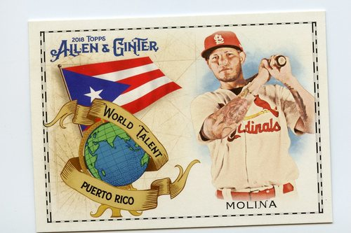 Photo of 2018 Topps Allen and Ginter World Talent #WT37 Yadier Molina