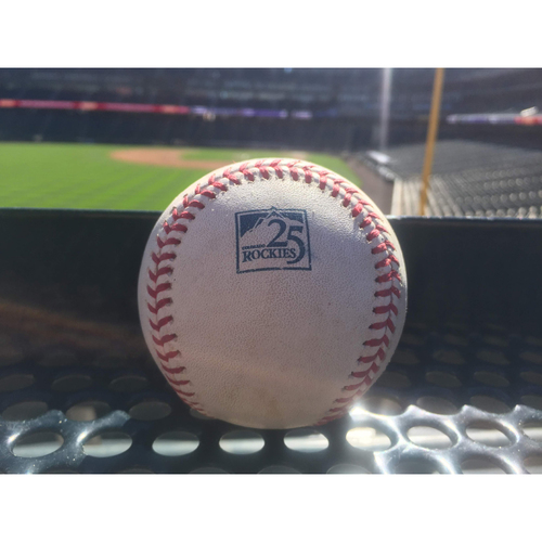 MLB Auctions | Colorado Rockies Game-Used Baseball