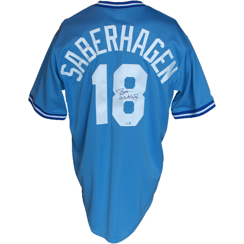 Photo of Autographed Powder Blue Jersey: Bret Saberhagen
