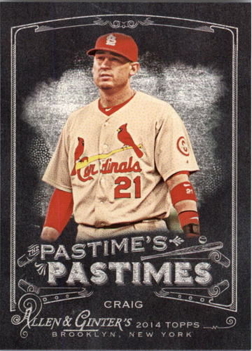 Photo of 2014 Topps Allen and Ginter The Pastime's Pastime #PPAC Allen Craig