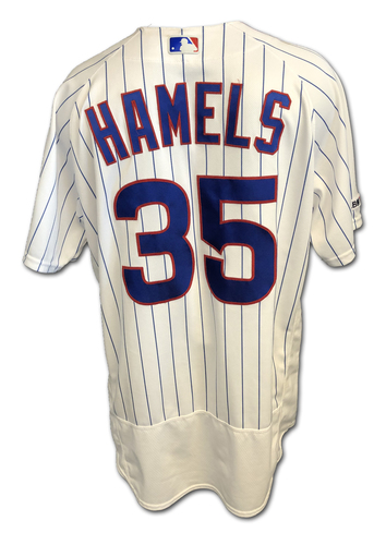 Photo of Cole Hamels Game-Used Jersey -- Hamels 5th Win (8 IP, 0 ER, 10 K) -- Cardinals vs. Cubs -- 6/7/19 -- Size 46