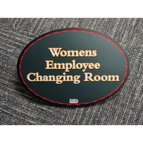 "Photo of ""Womens Employee Changing Room"" - Approximately 7""x10"""