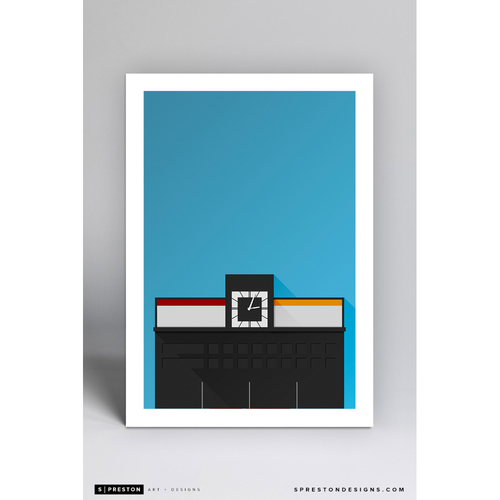 Photo of Crosley Field - Minimalist Ballpark Art Print by S. Preston  - Cincinnati Reds
