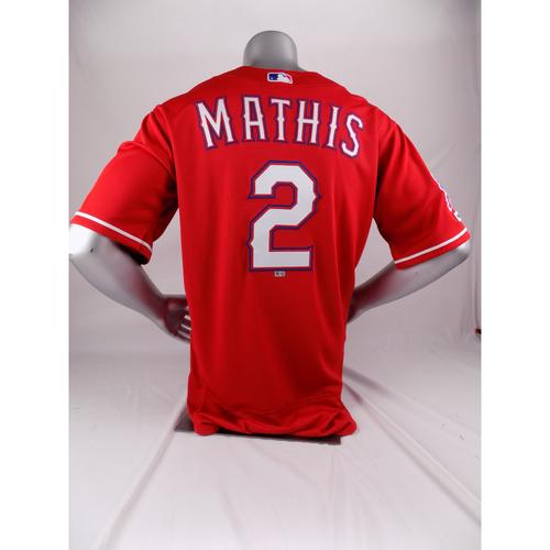 Final Season Game-Used Red Jersey - Jeff Mathis - 7/27/19