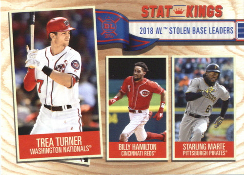 Photo of 2019 Topps Big League #356 Starling Marte/Billy Hamilton/Trea Turner
