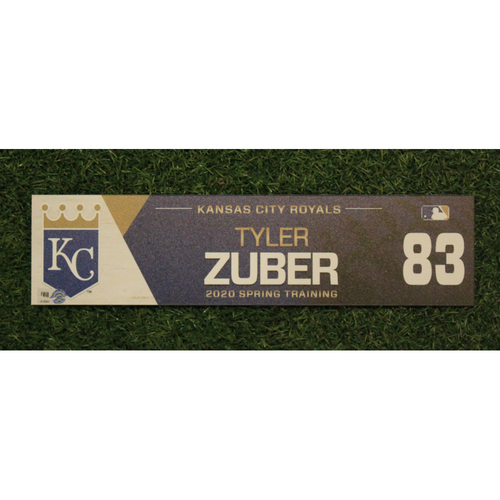 Photo of Game-Used Spring Training Locker Tag: Tyler Zuber #83
