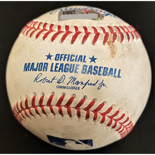 Photo of Spencer Turnbull Detroit Tigers Strikeout Baseball (MLB AUTHENTICATED)