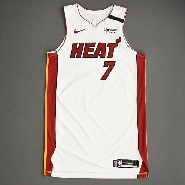Image of Goran Dragic - Miami Heat - Game-Worn Association Edition Jersey - 2019-20 NBA Season Restart with Social Justice Message