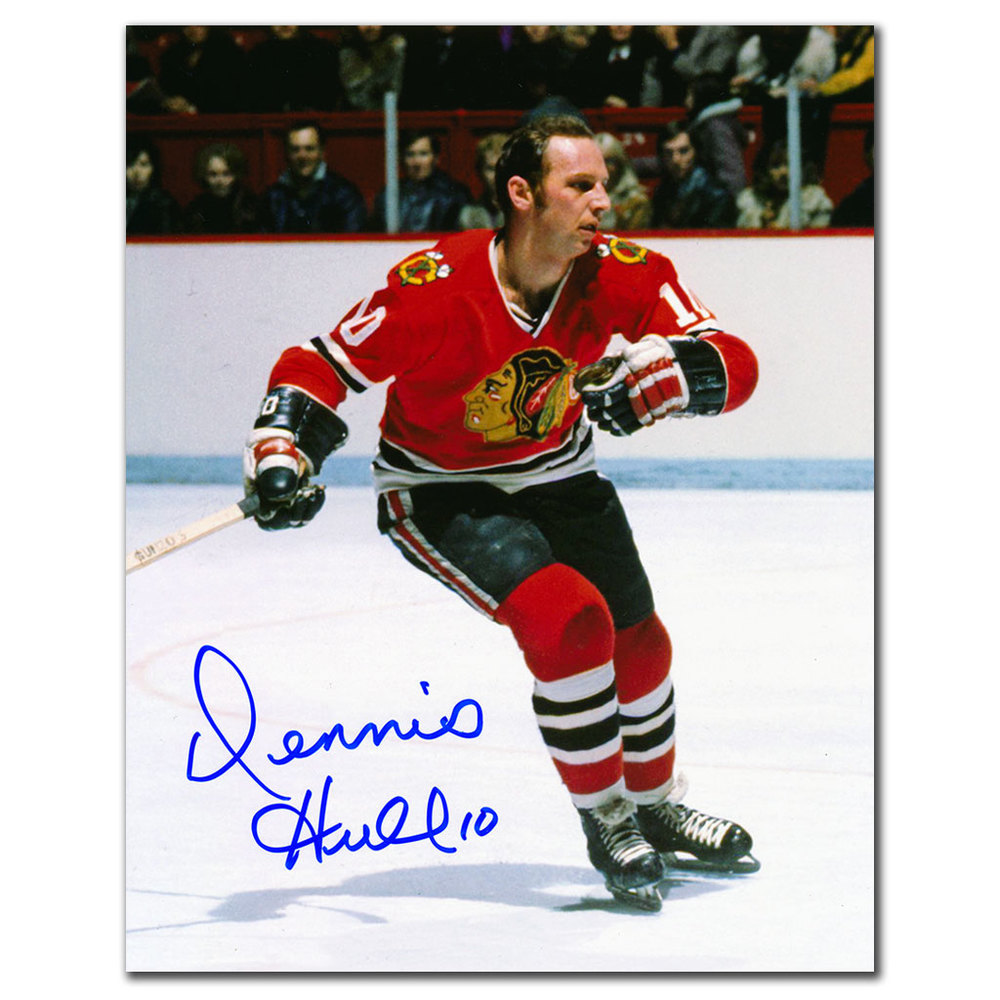 Dennis Hull Chicago Blackhawks RUSH Autographed 8x10