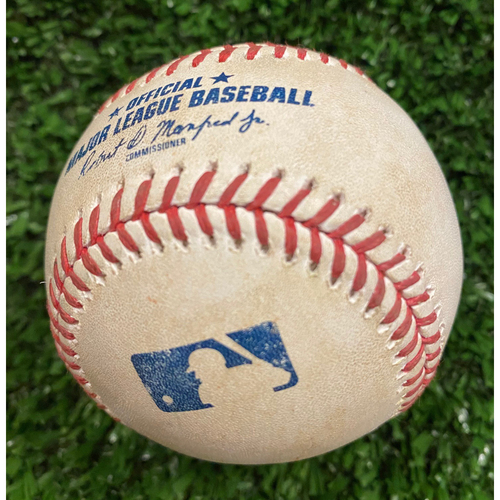Photo of Joey Votto Game Used Hit Single Baseball, Max Fried pitched - September 30, 2020 - Wild Card Game 1