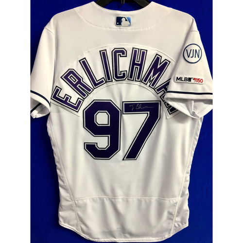 Photo of Autographed 2019 Devil Rays Jersey: Jonathan Erlichman