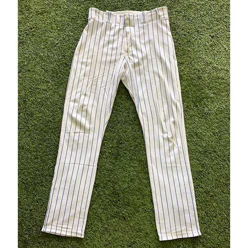 Photo of Tomas Nido #3 - Game Used White Pinstripe Pants - Mets vs. Braves - 9/29/19