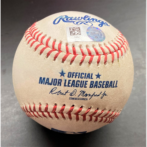 Photo of Game-Used Baseball:  Miguel Andujar New York Yankees Single  (MLB AUTHENTICATED)