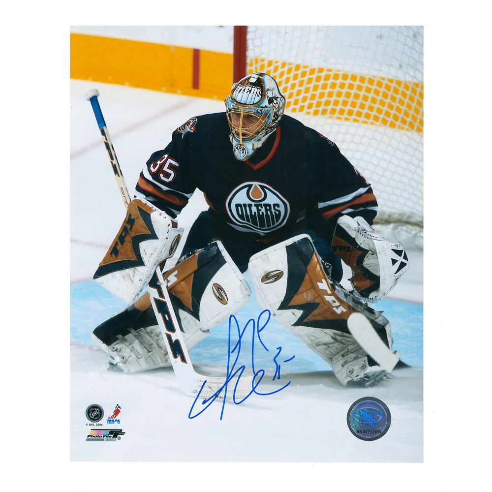 DWAYNE ROLOSON Signed Edmonton Oilers 8 X 10 Photo - 70415