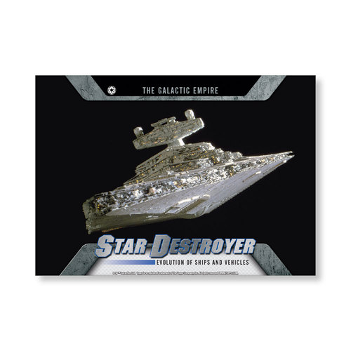 2016 Star Wars Evolution Star Destroyer EVOLUTION OF VEHICLES AND Ships Poster - # to 99