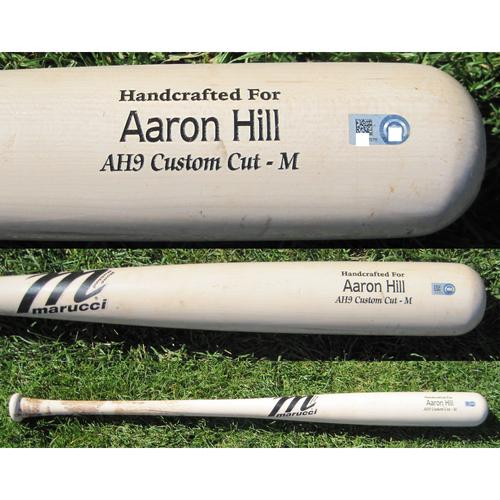 San Francisco Giants - Team Issued Broken Bat - Spring Training - Aaron Hill