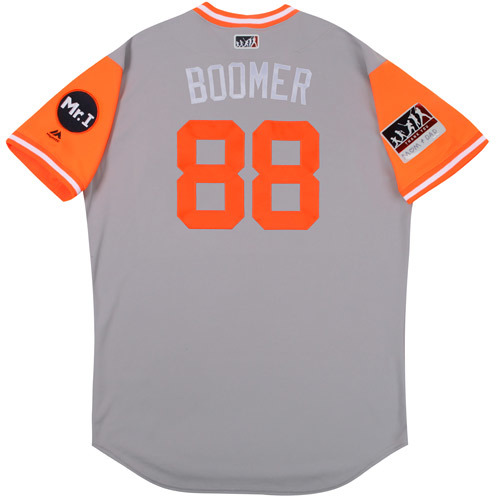 "Photo of  Seller logo Matt ""Boomer"" Martin Detroit Tigers 2017 Team-Issued Players Weekend Jersey"