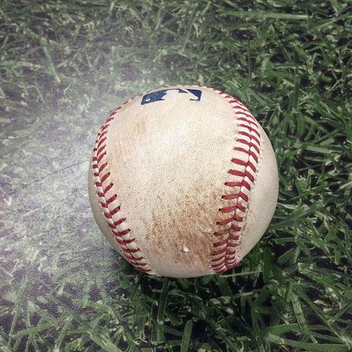 Photo of Game-Used Baseball CIN@MIL  05/28/16 - Alfredo Simon - Scooter Gennett: Triple