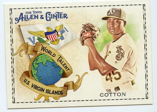 Photo of 2018 Topps Allen and Ginter World Talent #WT38 Jharel Cotton