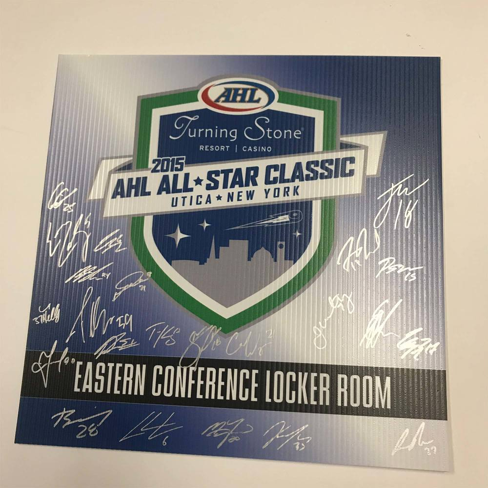 2015 Eastern Confrence Team Signed Event Sign