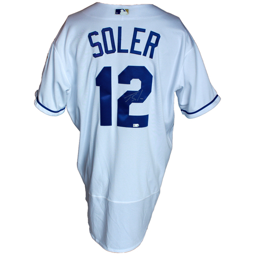 Photo of Autographed White Jersey: Jorge Soler