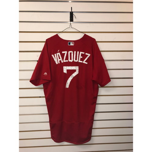 Photo of Christian Vazquez Team-Issued 2018 Spring Training Jersey