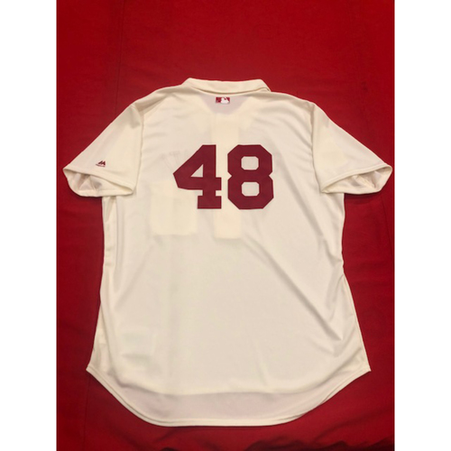 Photo of Jared Hughes -- 1902 Throwback Jersey -- Game-Used -- SF vs. CIN on May 4, 2019
