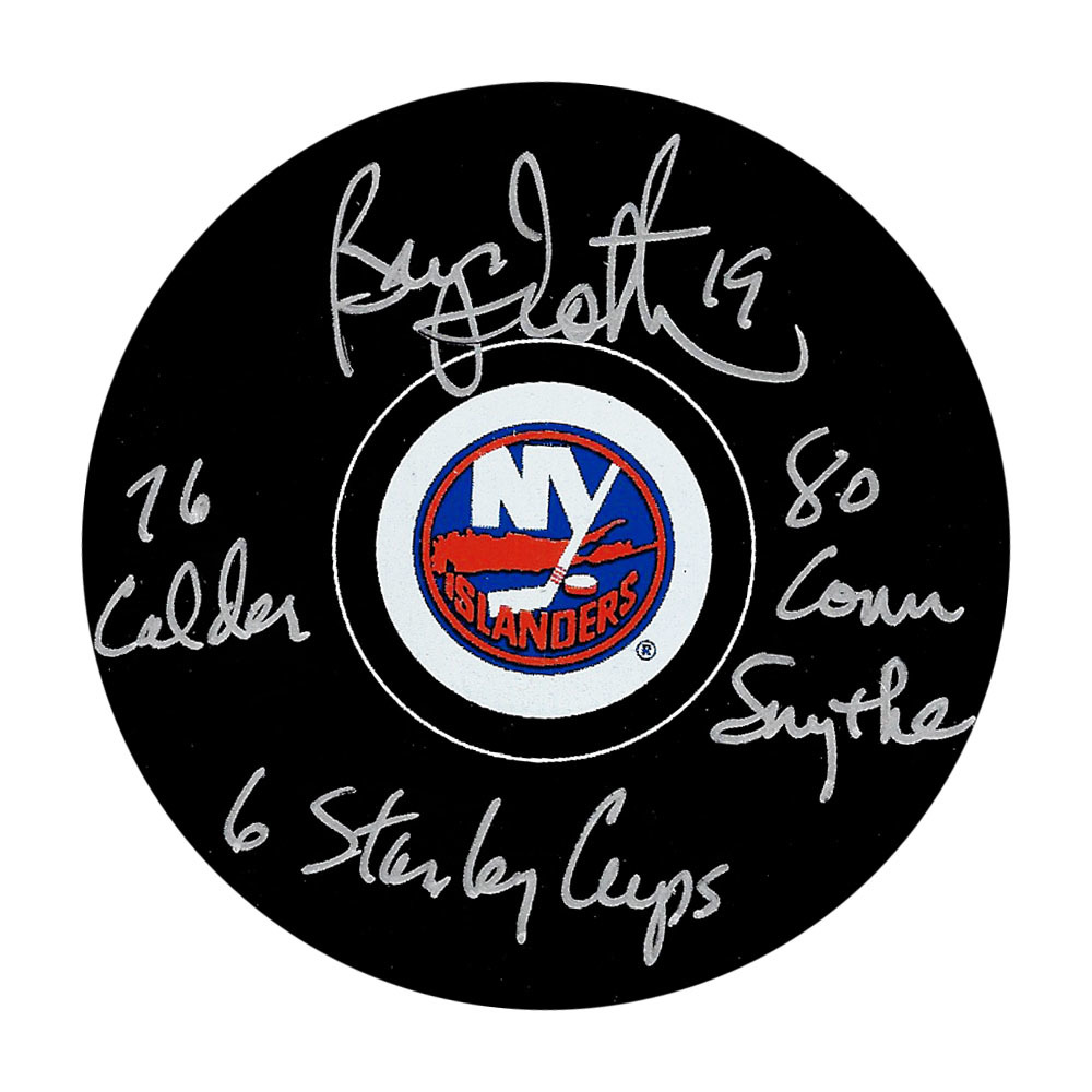 Bryan Trottier Autographed New York Islanders w/Multiple Inscriptions