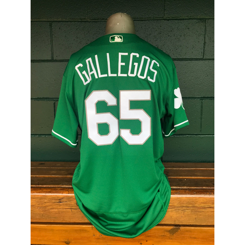 Photo of Cardinals Authentics: Team Issued Giovanny Gallegos 2019 Green St. Patrick's Day Jersey