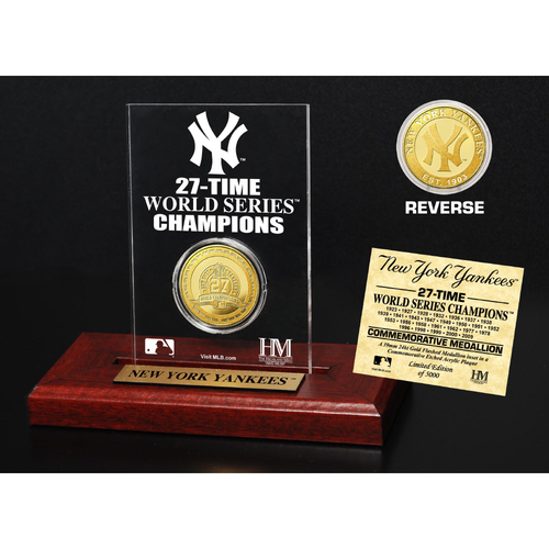 Photo of New York Yankees Gold Mint Coin Acrylic Desk Top Display