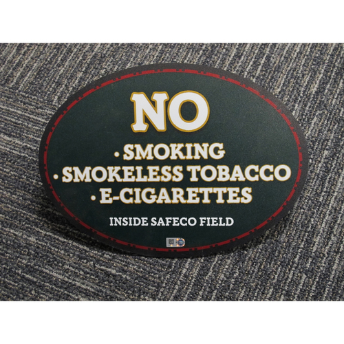 "Photo of ""No Smoking, Smokeless Tabacco, E-Cigarettes inside Safeco Field"" - Approximately 8""X11"""