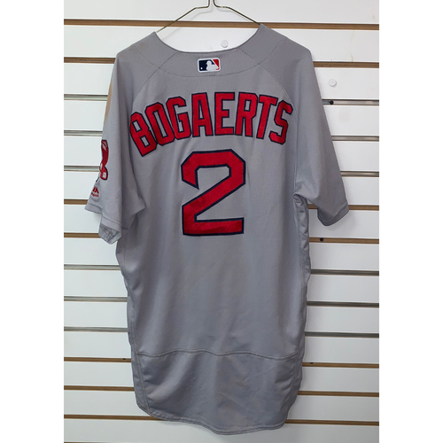 Photo of Xander Bogaerts Game Used August 27, 2019 Road Jersey - 2 for 4, Home Run, 28th Home Run of the Season