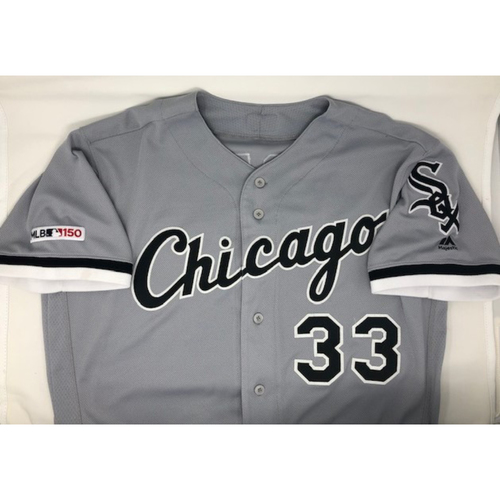 Photo of James McCann 2019 Game-Used Grey Road Jersey