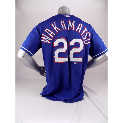 Photo of Final Season Game-Used Blue Jersey - Don Wakamatsu - 8/2/19, 9/29/29