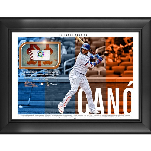 Photo of Robinson Cano Game-Used Baseball Plaque