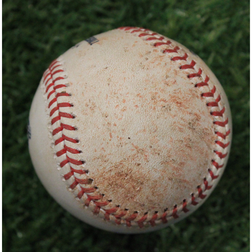 Photo of Game-Used 50 Seasons Baseball: (9/30/18 CLE @ KC)