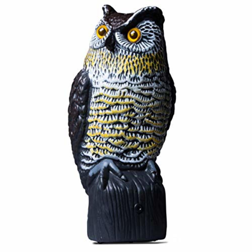 Photo of Livin' Well Scarecrow Owl Decoy w/ Light-Up Owls Eyes & Sounds, Solar, Motion-Activated
