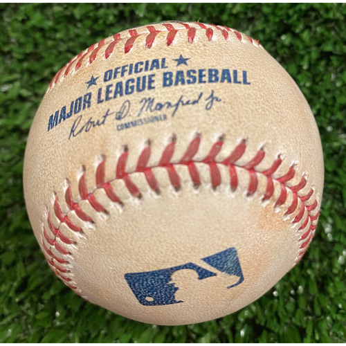 Photo of Aristides Aquino Game Used Hit Single Baseball, Max Fried pitched - September 30, 2020 - Wild Card Game 1