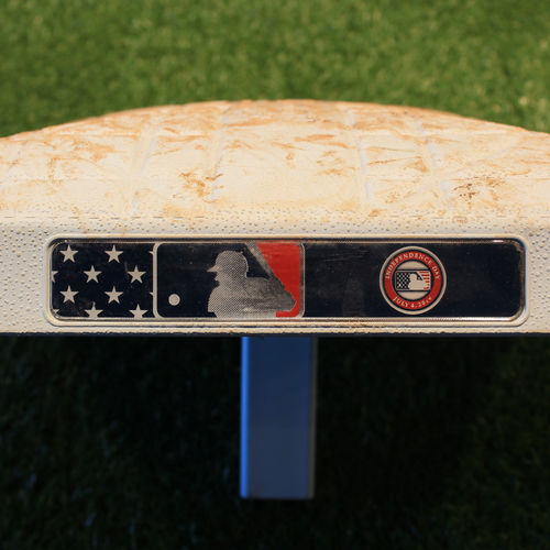 Photo of Game-Used Base: 1st Base, Innings 1-5 (CLE @ KC 7/4/19)