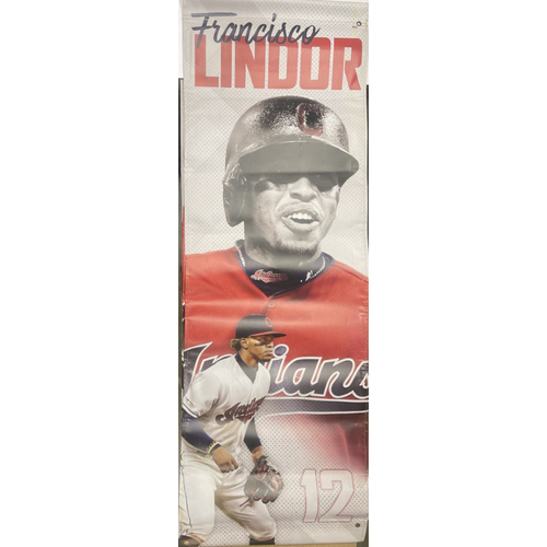 Photo of Team Issued Street Banner - Francisco Lindor