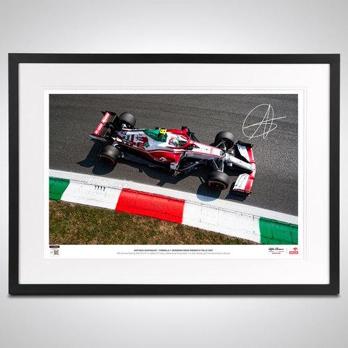 Photo of Antonio Giovinazzi 2021 Limited Edition Signed Photograph - Italian GP