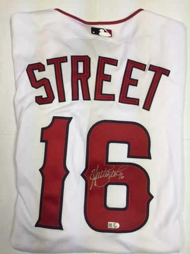 Huston Street Autographed Authentic Angels Jersey