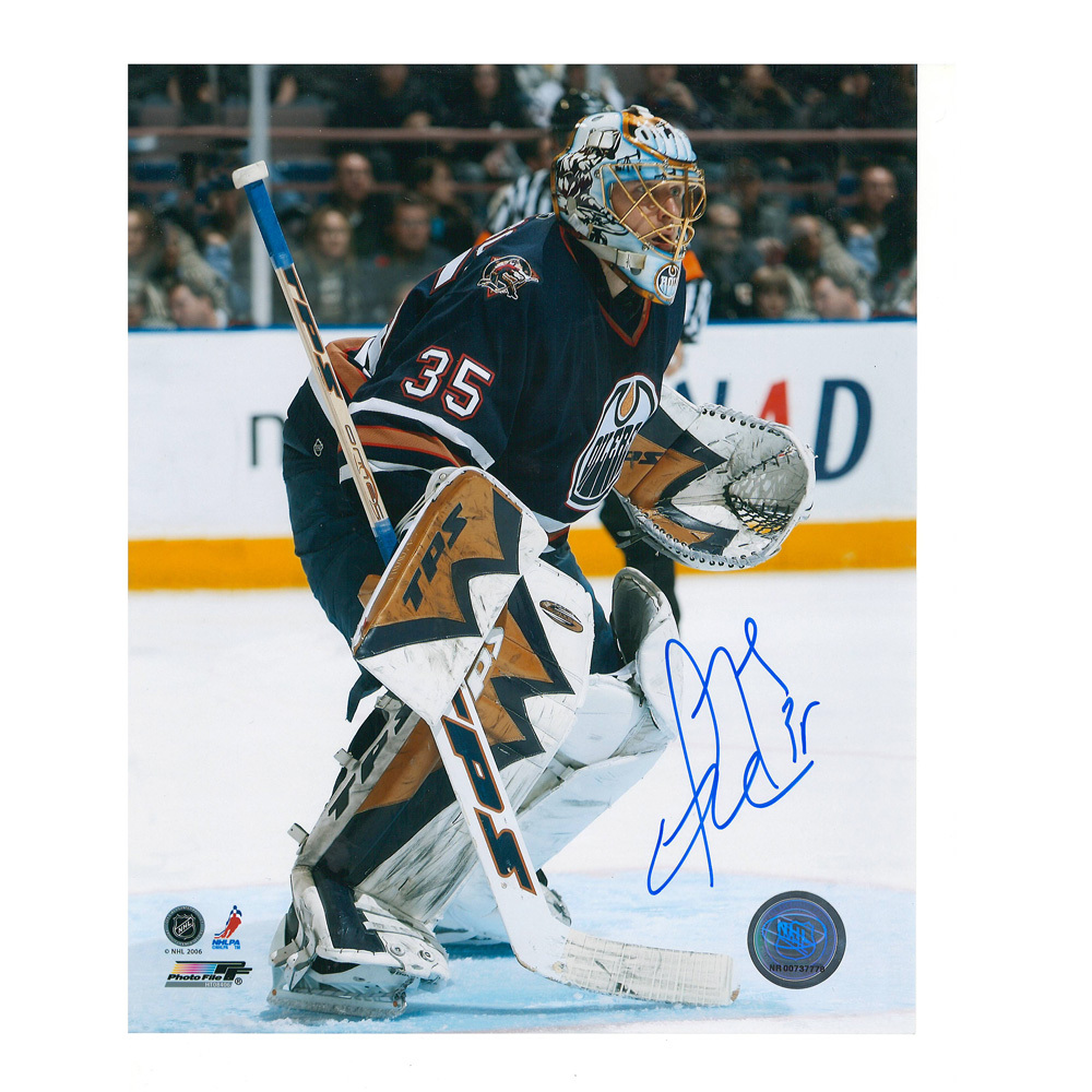 DWAYNE ROLOSON Signed Edmonton Oilers 8 X 10 Photo - 70416