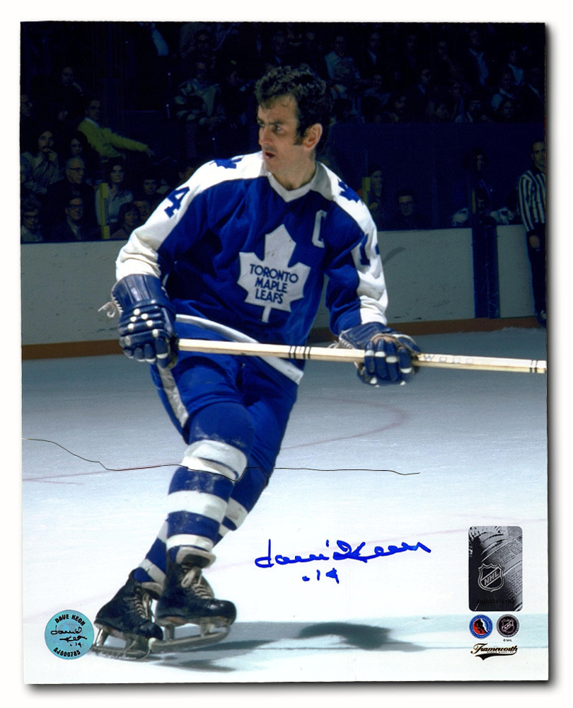Dave Keon Toronto Maple Leafs Autographed NHL Hockey Action 8x10 Photo