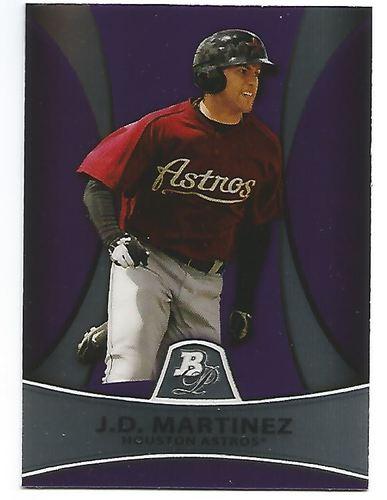 Photo of 2010 Bowman Platinum Prospects Purple Refractors J.D. Martinez
