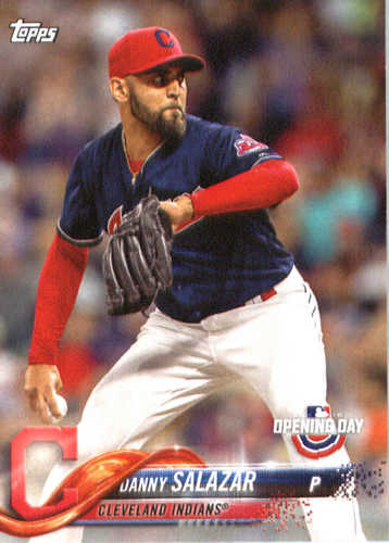 Photo of 2018 Topps Opening Day #38 Danny Salazar